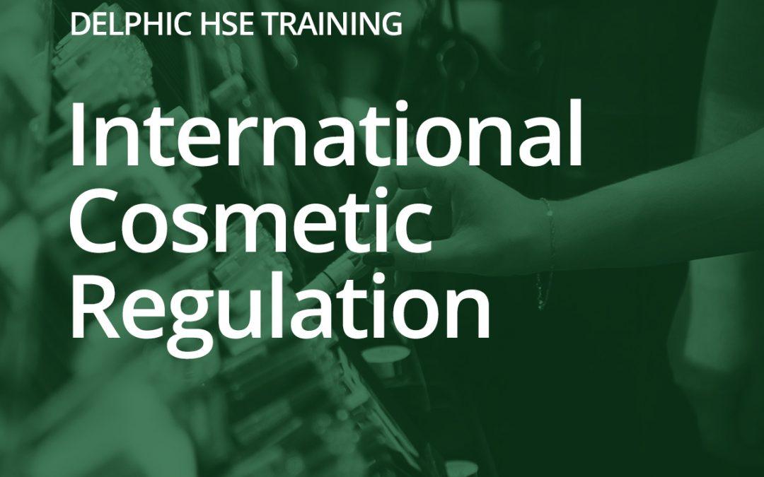 International Cosmetic Regulation: 12th November 2019 (UK)