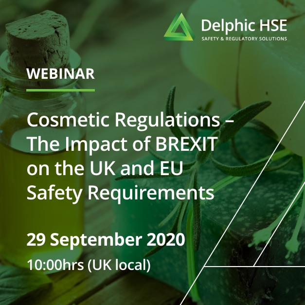 Cosmetic Regulations – The Impact of BREXIT on the UK and EU Safety Requirements (September)
