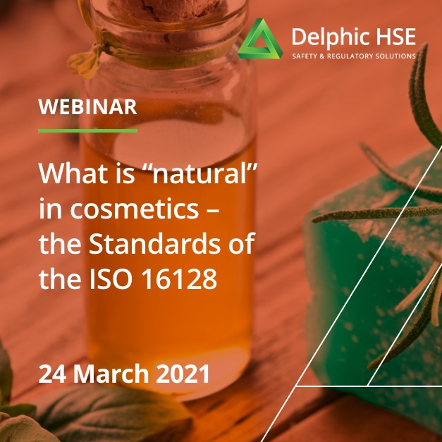 "What is ""natural"" in cosmetics – the Standards of the ISO 16128 (24 March 2021)"